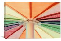 Rainbow Colored Umbrella, Canvas Print