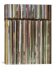 Top View Of Old Vinyl Record Cases, Canvas Print