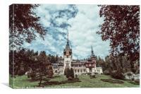Neo-Renaissance Peles Castle Built In 1873 In Carpathian Mountai, Canvas Print