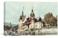 Neo-Renaissance Peles Castle Built In 1873 In Carp, Canvas Print