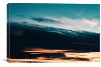 Beautiful Orange And Blue Summer Sunset Sky, Canvas Print