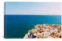 Aerial Panoramic View From Papa Luna Castle Of Pen, Canvas Print