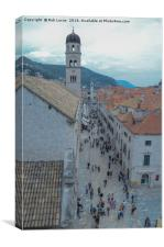 Lowry style Dubrovnik old city , Canvas Print