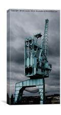 Industrial past haunting the river Medway, Canvas Print