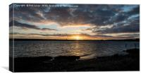 Sunset on the Medway, Canvas Print