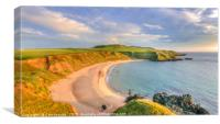 Porthor Bay at Sundown, Canvas Print