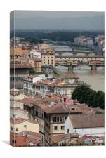 Landscape of Florence, Canvas Print