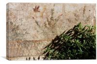 Fresco in villa oplontis, Canvas Print