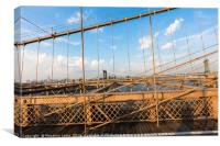 The Brooklyn Bridge, Canvas Print