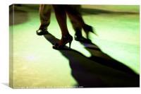 Tango dancer in milonga, Canvas Print