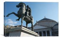 Naples, piazza del plebiscito, Canvas Print