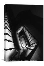 Spiral staircase, Canvas Print