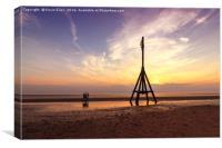 Beach sunset at Crosby, Canvas Print