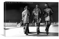 Beatles statue,fab4,liverpool,music, Canvas Print