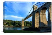The Menai bridge, Canvas Print