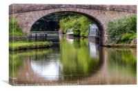 Bridge refection, Canvas Print