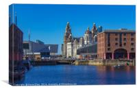 The Albert dock Liverpool, Canvas Print