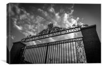 Liverpool football club gates, Canvas Print