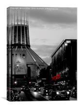 Hope street Liverpool, Canvas Print