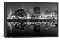 Canning dock reflections, Canvas Print