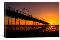 SUNSET AT SOUTHPORT, Canvas Print