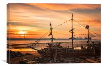 Mersey sunrise, Canvas Print