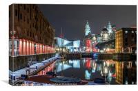 The Albert dock in Liverpool, Canvas Print