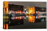 Albert dock Liverpool, Canvas Print