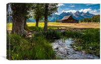 T.a. Moulton Barn -  Mormon Row - Grand Teton, Canvas Print