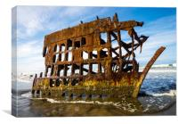 Peter Iredale Shipwreck - Oregon Pacific Coast, Canvas Print