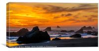 Golden Harris Beach Sunset - Oregon, Canvas Print