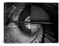 Cape Blanco Lighthouse Spiral Staircase - Oregon, Canvas Print