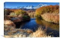 Owens River And Eastern Sierra Nevada Mountains, Canvas Print