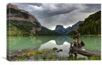 Squaretop Mountain Upper Green River Lakes, Canvas Print