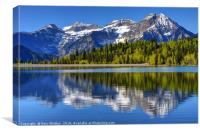Mt. Timpanogos Reflected In Silver Flat Lake, Canvas Print