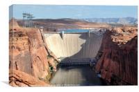 Glen Canyon Dam On The Colorado River, Canvas Print