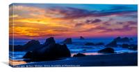 Magical Sunset - Harris Beach - Oregon, Canvas Print