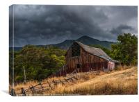 Mendon Utah Barn In Storm, Canvas Print