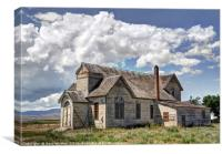 Old Abandoned Church - Ovid - Idaho, Canvas Print
