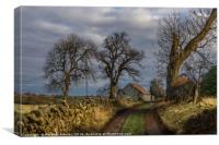 Country Lane in Richmondshire, Canvas Print