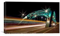 Double Decker Light Trails, Canvas Print
