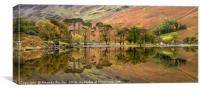 Autumn Reflections on Buttermere, Canvas Print