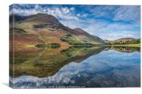 Reflections of Buttermere , Canvas Print