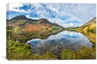 Buttermere in Autumn, Canvas Print