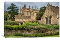 Oxford Cathedral and Garden, Canvas Print
