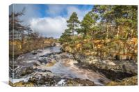 Low Force in Teesdale, Canvas Print