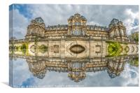 Fisheye Reflections of The Bowes Museum, Canvas Print