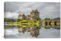 Reflections of Eilean Donan Castle, Canvas Print