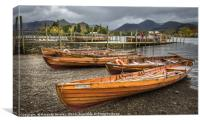 Keswick Boats and Ferry , Canvas Print