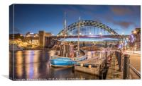 The Tyne Bridge at Newcastle, Canvas Print